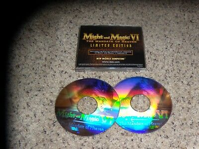 Might And Magic Vi: The Mandate Of Heaven Limited Edition (pc, 1998) Game