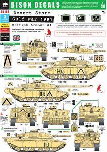 Bison-Decals-1-35-Gulf-War-1991-1-Challenger-1-35148