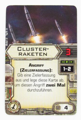 Clusterraketen Upgrade Karte Star Wars X-Wing Tabletop
