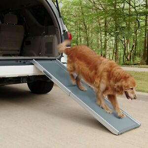 Dog Ramp For Truck >> Pet Ramp For Large Dogs Deluxe Telescoping Ramp Travel Portable Car