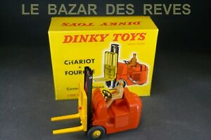 DINKY-TOYS-FRANCE-Chariot-a-fourche-Coventry-REF-597-Boite