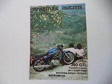 advertising Pubblicità 1977 MOTO DUCATI 350 GTL