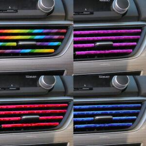 10PCS автомобильные аксессуары синий кондиционер вентиляционное отверстие розетка украшение полоски