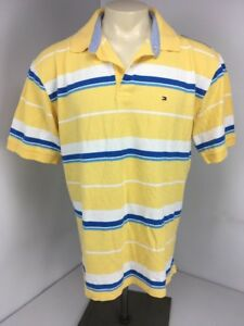 Yellow Blue White Striped Polo Rugby