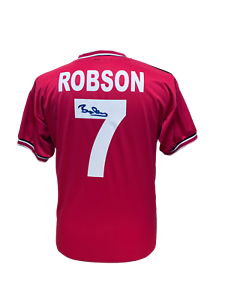 c83b95c7a2d Image is loading BRYAN-ROBSON-SIGNED-MANCHESTER-UNITED-1985-SHIRT-SEE-