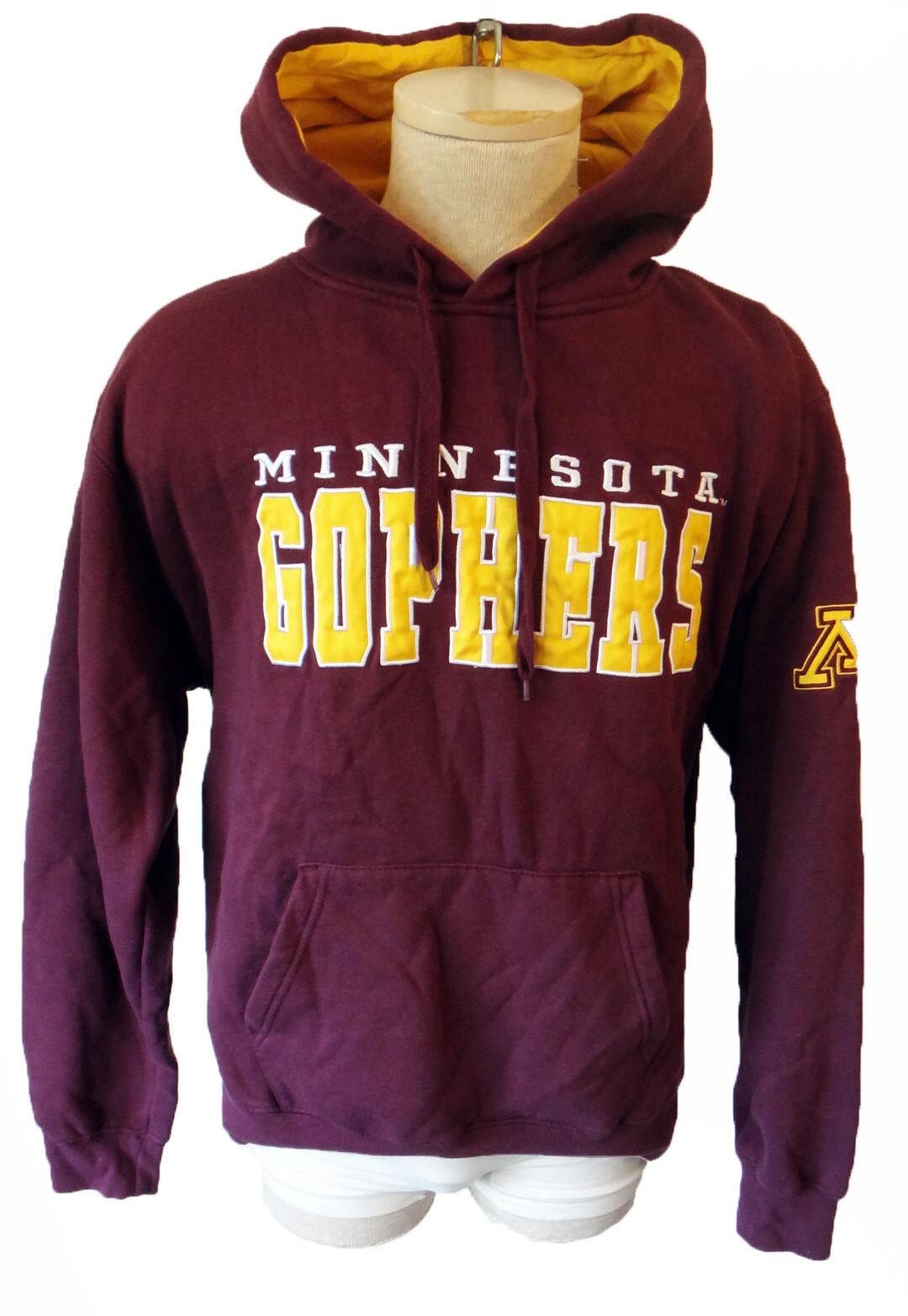 GOPHER minnesota XL sweatshirt hoodie embroideROT pullover university golden