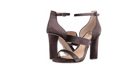 Vince Camuto Robeka Winter Brown Titanium Velvet Sandal Heel NIB Multi Sizes