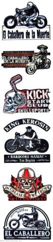 Skullsports Set King Kérosène Autocollant Sticker Moto Bobber Biker Rockabilly