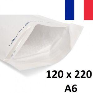 10X Enveloppe Bulles Matelassées Blanches 120x220mm 12x22cm B/2 A6 Bulle