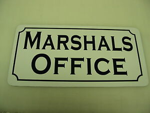 Image Is Loading MARSHAL OFFICE Vintage Style Metal Sign 4 Constable