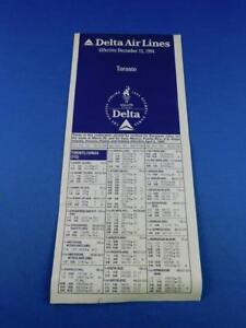 DELTA-AIRLINES-TIMETABLE-SCHEDULE-DECEMBER-1994-TORONTO-ADVERTISING-TRAVEL