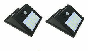 2-X-Faro-20-Led-Con-Pannello-Solare-E-Sensore-Di-Movimento-Faretto-Crepuscolare
