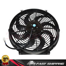 """DUAL 16/"""" ELECTRIC RADIATOR WIDE CURVED BLADE FAN 3000CFM  With Thermostat"""