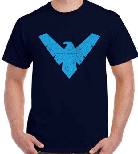 Mens Batman Inspired T-Shirt Night Wing Nightwing