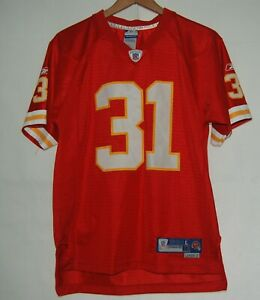 Details about Kansas City Chiefs Football Jersey Reebok Holmes 31 Red Yellow Boys L 14 16 NFL