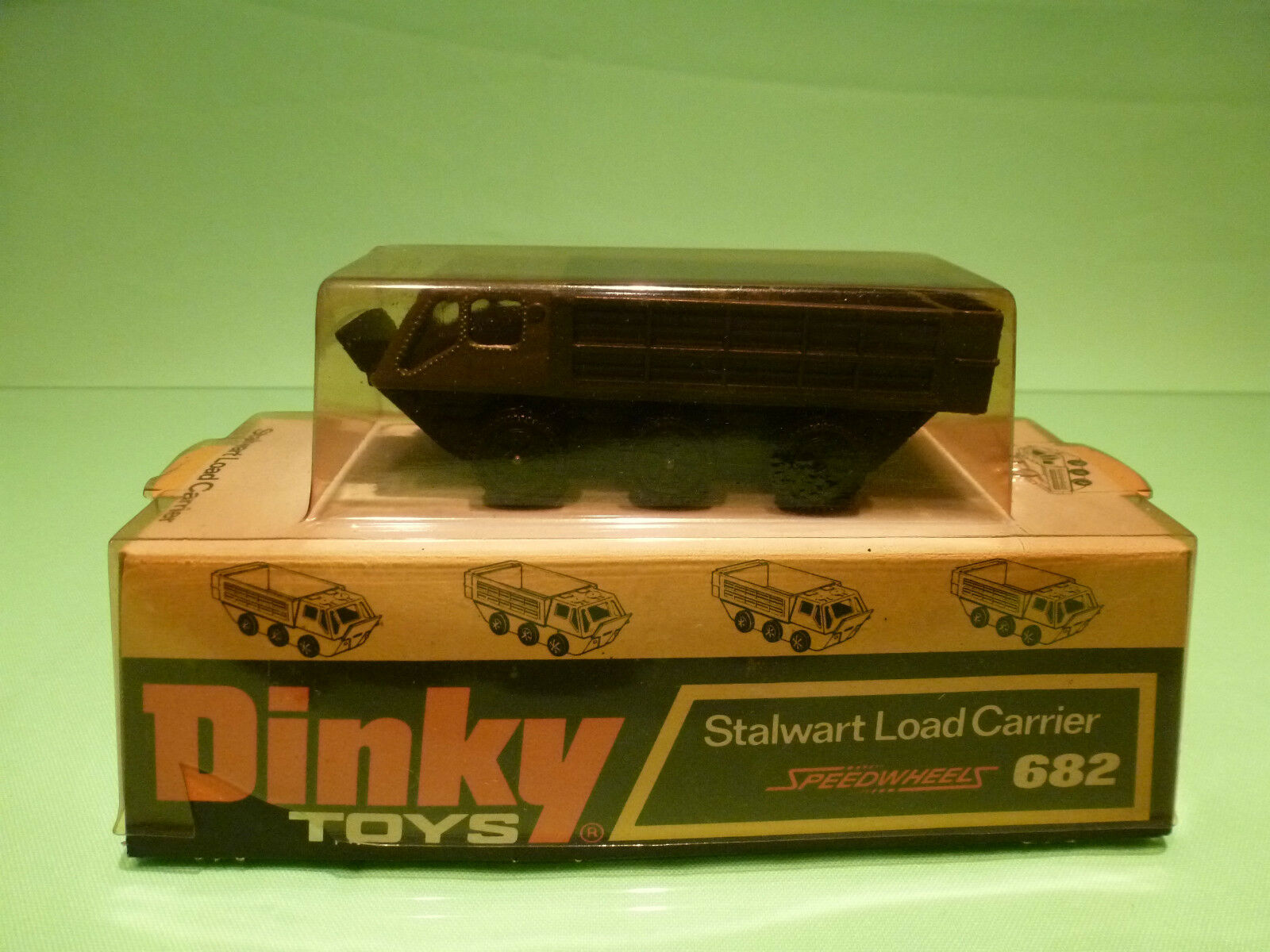 DINKY TOYS 682 STALWART LOAD CARRIER - RARE SELTEN - GOOD CONDITION IN BLISTER