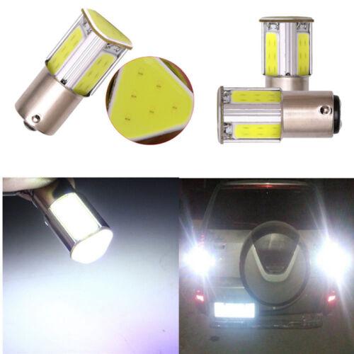 2pcs 12V 1156 4 Chips COB LED Car Turn Signal Rear Light Lamp Bulb White