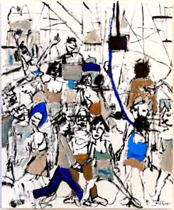 Ernest-Hemingway-Large-Original-Oil-Painting-Canvas-Paris-Modern-Art-Neal-Turner