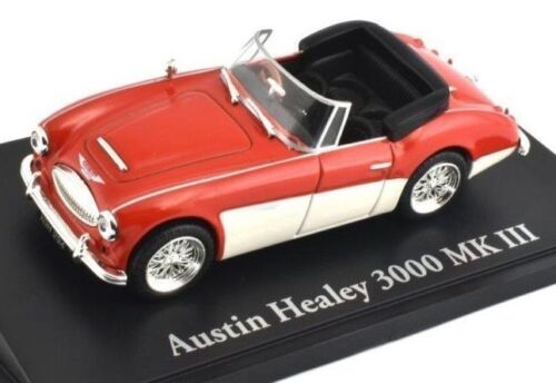 NICE ATLAS//NOREV DIECAST 1//43 1964-1967 AUSTIN HEALEY 3000 MKIII MK3 RED /& WHITE