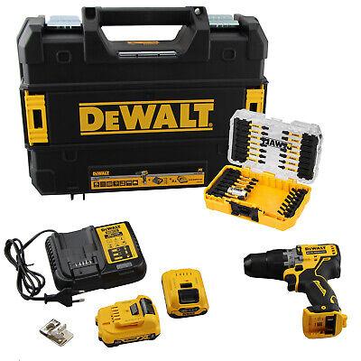 DeWalt DCD706D2 Akku Schlagbohrschrauber 12V 2x2Ah Akku Bit-Set Koffer Ladegerät