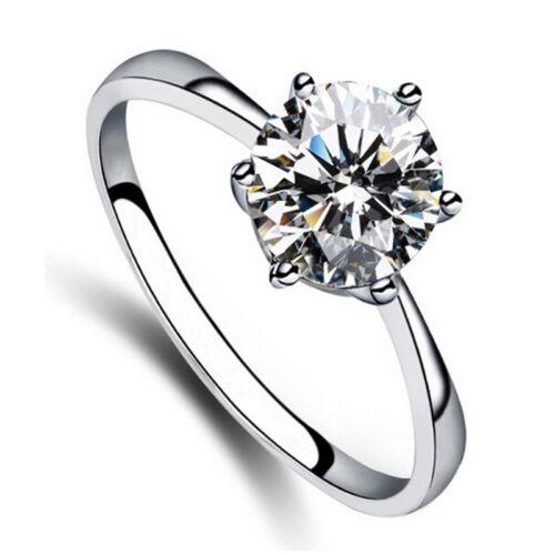 Charm Pretty 6Mm Simulated Diamond*Wedding Rings Luxury Crystal Finger Ring FO