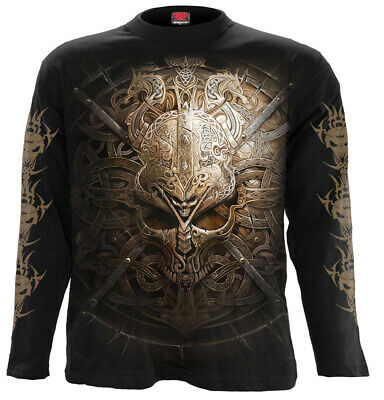 Spiral Direct VIKING SHIELD T-Shirt//Biker//Skull//Warrior//Goth//Dragon//Gift//Top//Tee