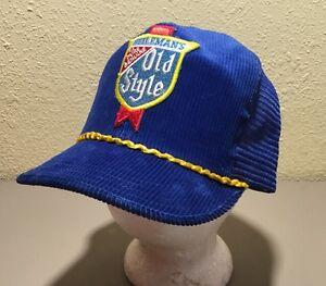 449d69f7cedd7 Vintage Rare Heileman s Old Style Beer Corduroy Mesh SnapBack Hat ...