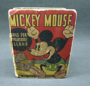 Details about Mickey Mouse Sails For Treasure Island Big Little Book 1933  Hard Cover