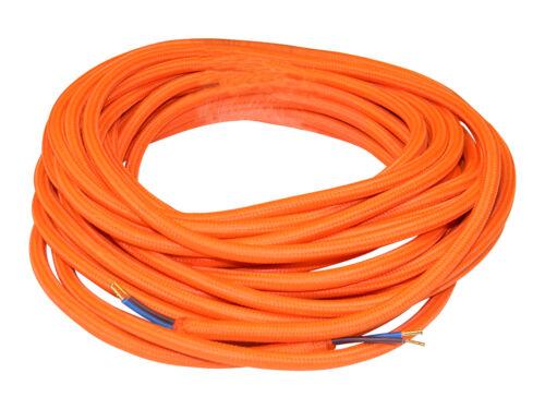 Cavi Elettrici Tessile Vari Colori 2x0.75 mt 10 anche intrecciato Marrone
