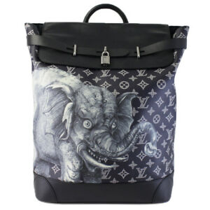 2d95d94ed7de Image is loading LOUIS-VUITTON-STEAMER-SAVANNA-CHAPMAN-BROTHERS-BACKPACK- ELEPHANT-