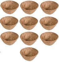10 Ea Panacea 88592 14 Round Coco Fiber Hanging Basket Planter Formed Liner