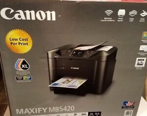 Details about NEW Canon MAXIFY MB5420 All-In-One Inkjet Printer w Mobile  and Duplex Printing