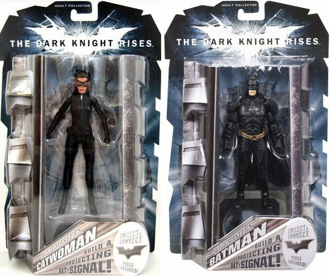NEW Batman The Dark Knight Rises Movie Masters Catwoman & Batman Action Figures