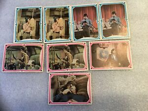 Vintage-Lot-Of-8-THE-MONKEES-Raybert-1967-Trading-Cards