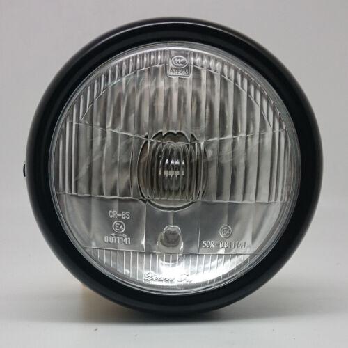 Motorcycle Black Metal Retro Front Headlight For GN125 Cafe Racer Bobber Custom