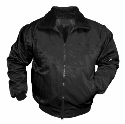 Arbeitsjacke Pilotenjacke Winterjacke Berufsjacke Jacke Berufskleidung schwarz