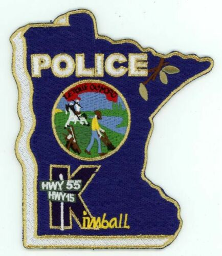 KIMBALL POLICE MINNESOTA MN NICE COLORFUL PATCH SHERIFF STATE SHAPED