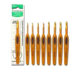 CROCHET ERGONOMIQUE SOFT TOUCH DE CLOVER   NEUF  9 tailles de 2mm à 5,5mm
