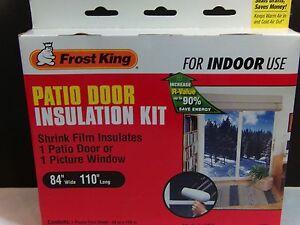 Frost King Clear Indoor Patio Door Insulation Kit V76 New