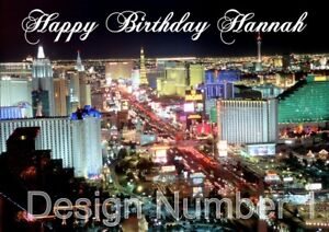 Image Is Loading Las Vegas Personalised Large Birthday Card Different Designs