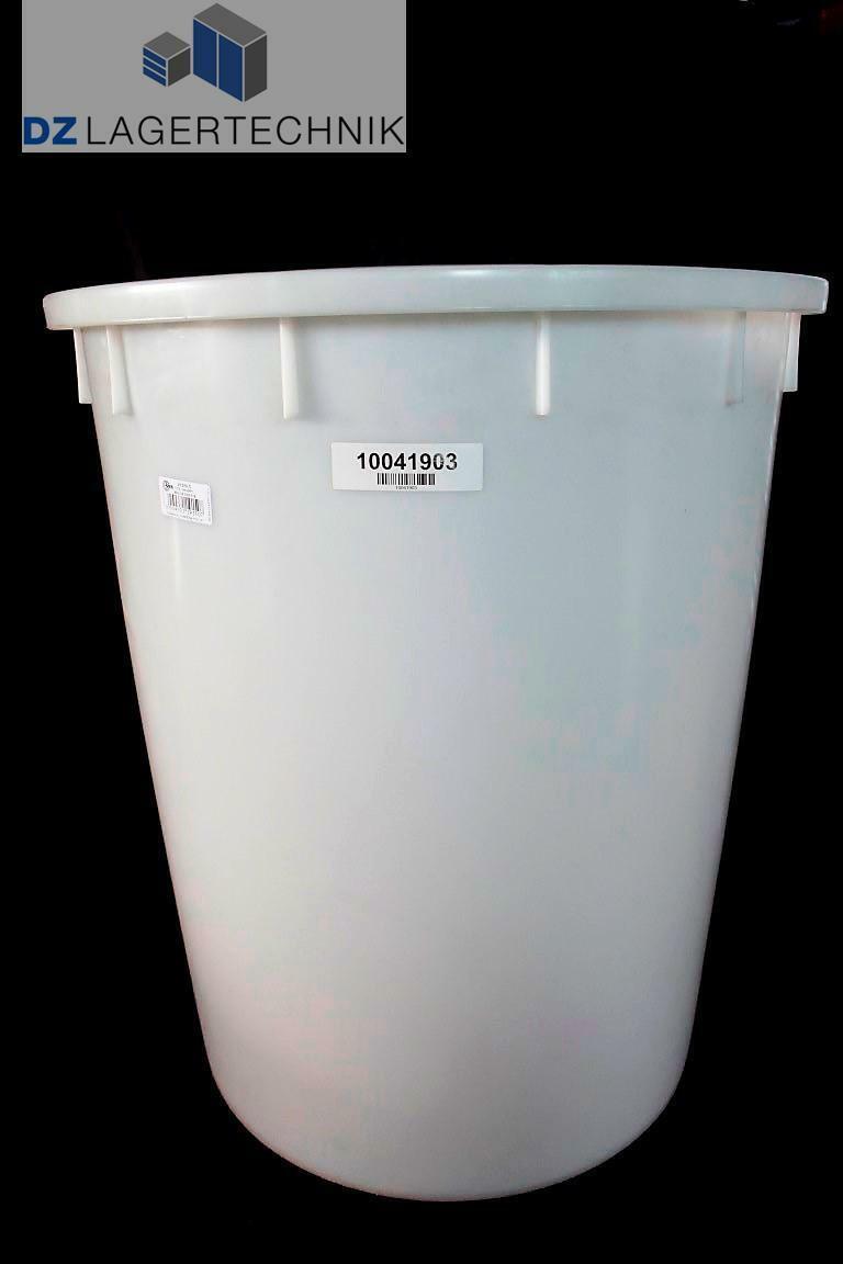 BRB Rundtonne HDPE naturweiß Mülltonne Abfallsammler Abfallbehälter Tonne 150 L.