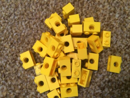 FAST FREE UK POST 10 x Lego Technic YELLOW Bricks 2x1 Parts *CHEAPEST ON