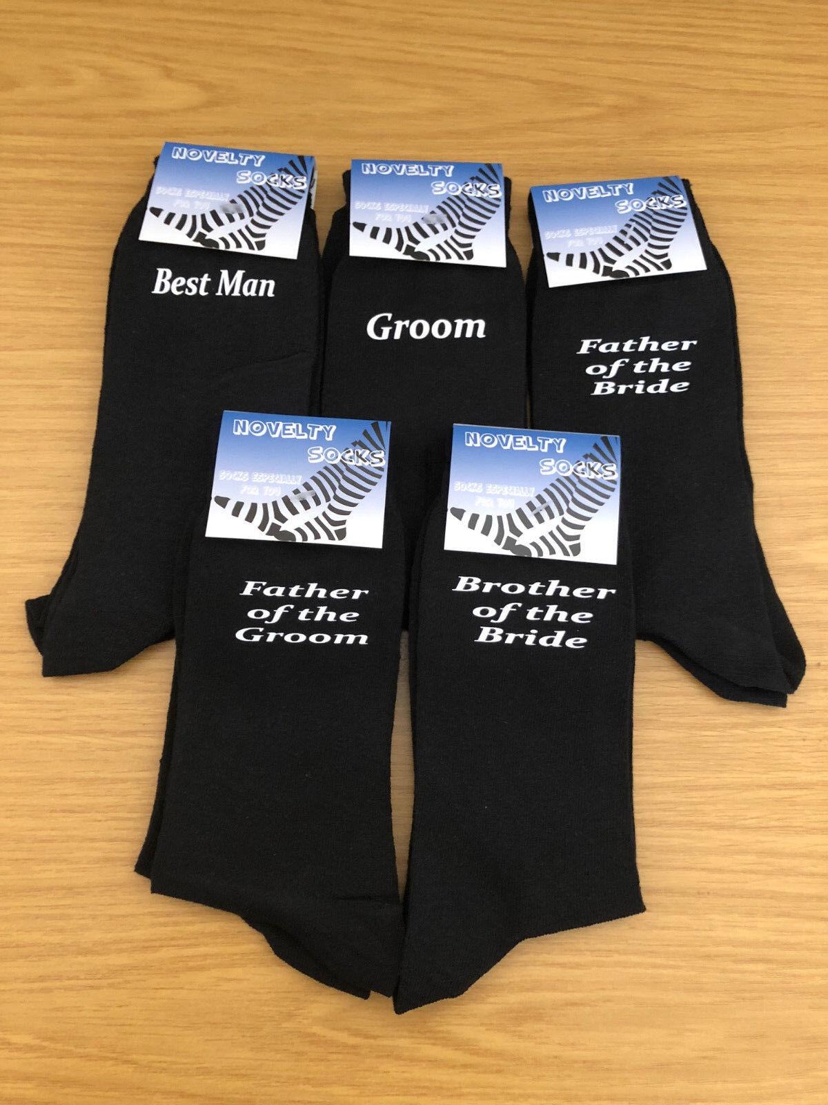 Black Luxury Cotton Rich Wedding Socks, Groom, Best Man, Usher
