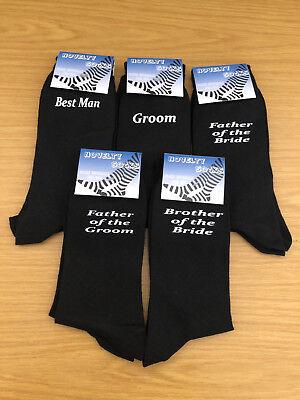 100% Wahr Black Luxury Cotton Rich Wedding Socks, Groom, Best Man, Usher Ideales Geschenk FüR Alle Gelegenheiten