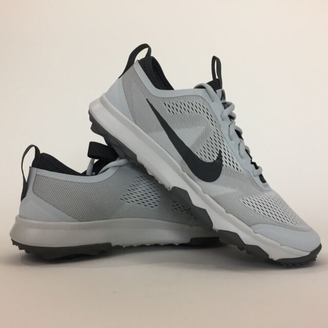 a3bbc409c19f1 Mens Nike Fi Bermuda Silver Grey White Rory McIlroy Spikeless Golf ...