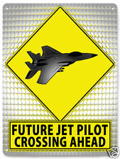 JET PILOT Metal street sign EDUCATIONAL healthy kids funny child's room art 099