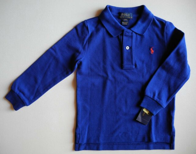 10a597f2f818 Boys Ralph Lauren Long Sleeve Polo Shirt Size 2   2t Navy for sale ...