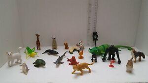 Huge-Lot-21-Safari-Toy-Safari-Animals-whale-Giraffe-Turtle-Dog-Cat-Fast-Ship