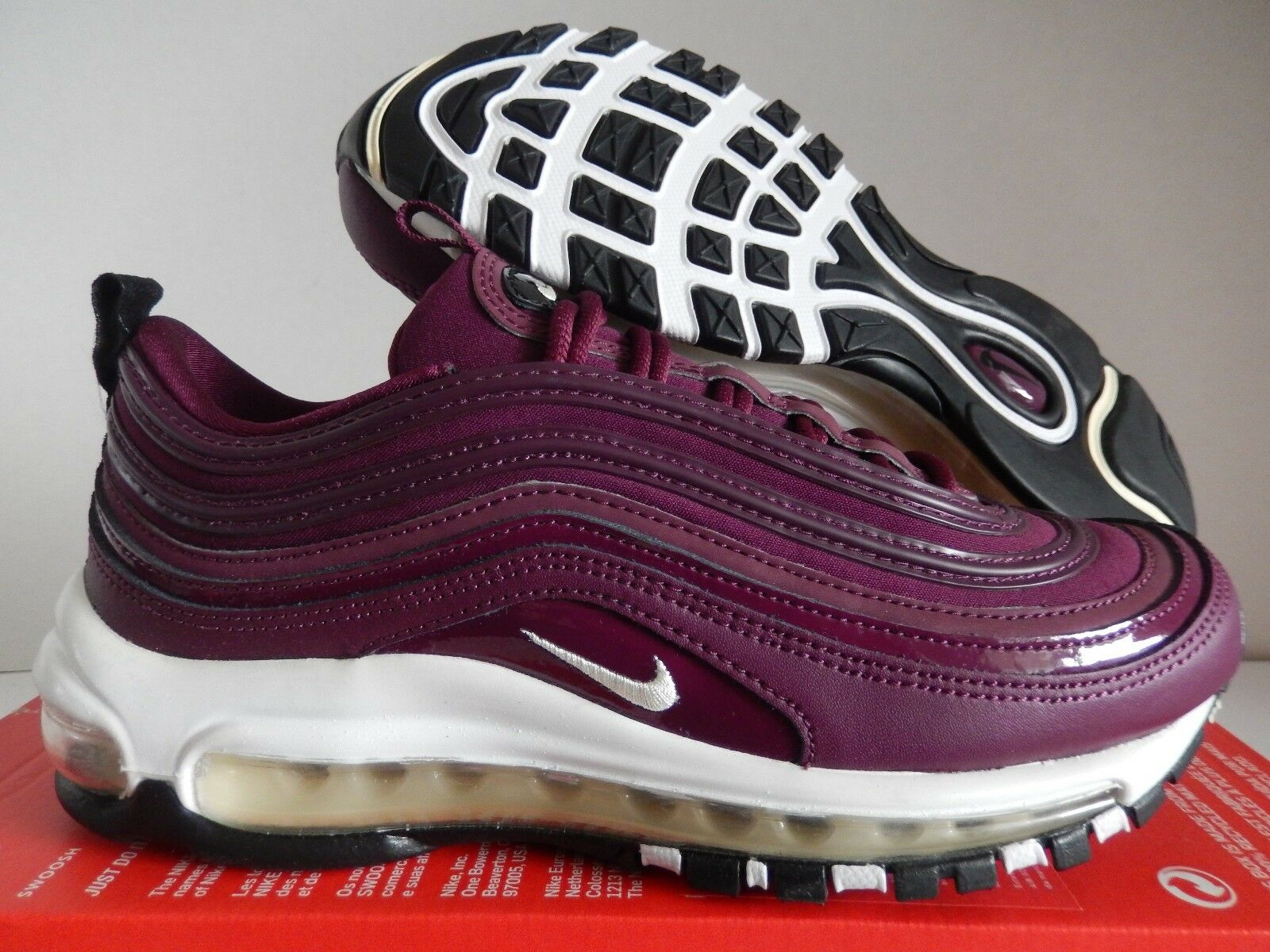 WMNS NIKE AIR MAX 97 PREMIUM BORDEAUX-MUSLIN-BLACK Price reduction