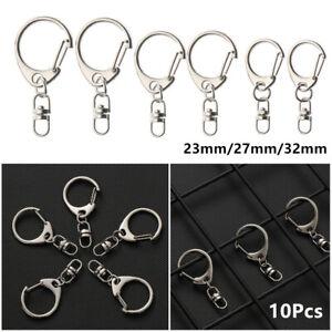 Steel-Outdoor-Split-Ring-Metal-Swivel-Trigger-Key-Chain-Ring-Snap-Hook